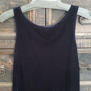 Blue Velvet Party Dress